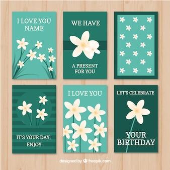 Pacote lovley de cartas com flores de jasmim