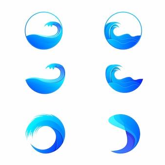 Pacote marítimo de ondas