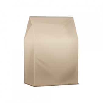 Pacote marrom. papelão em branco levar pacote de almoço. embalagens para sanduíches, alimentos e outros produtos