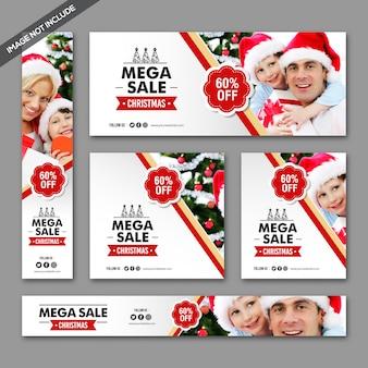 Pacote mínimo de banners de venda de natal