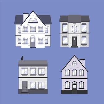 Pacote mínimo de casas diferentes