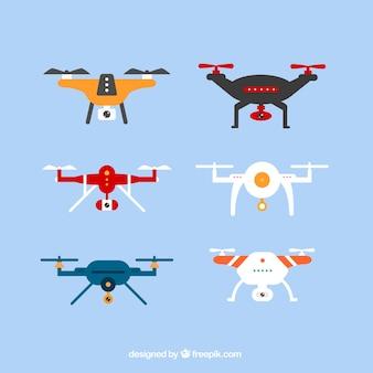Pacote moderno de drones coloridos