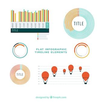 Pacote moderno de elementos infográficos
