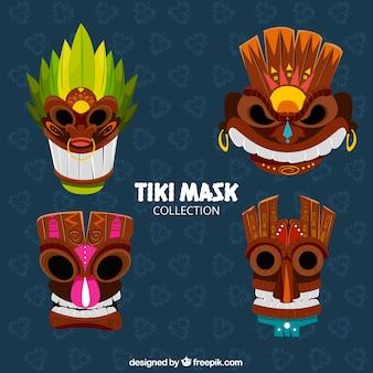 Pacote moderno de máscaras tribais legais