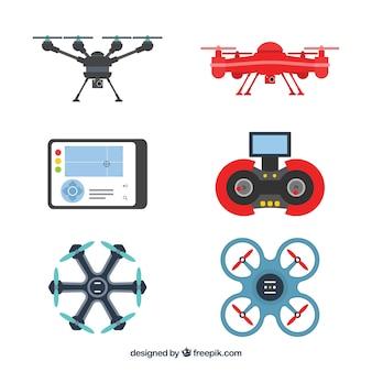 Pacote moderno de novos drones