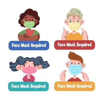 Pacote obrigatório de máscara facial