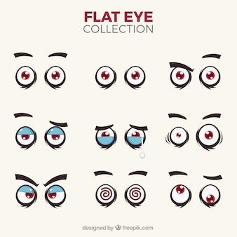 Pacote olhos de caracteres