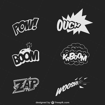 Pacote onomatopéia em quadrinhos