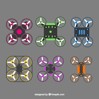 Pacote original de drones coloridos