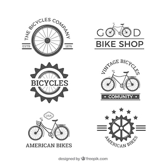Pacote original de logotipos de bicicletas vintage
