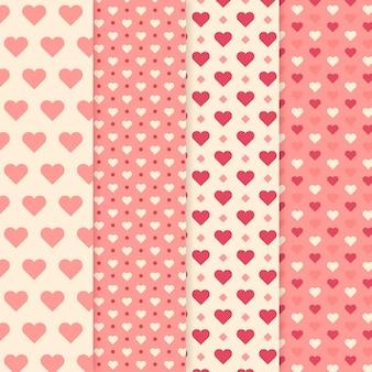 Pacote padrão de coração liso