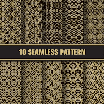 Pacote padrão vintage de luxo
