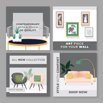 Pacote postal ig de venda de móveis com foto