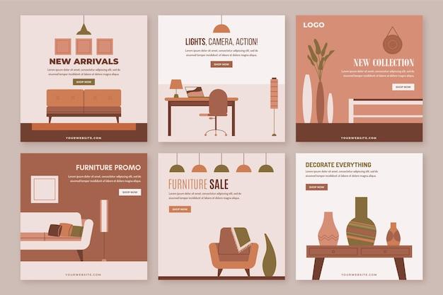 Pacote postal ig de venda de móveis com imagem