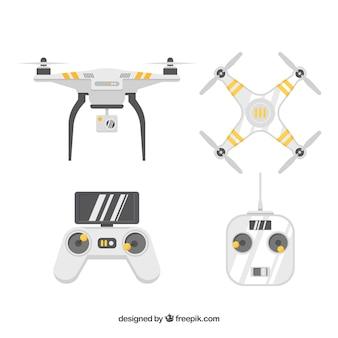 Pacote profissional de drones modernos