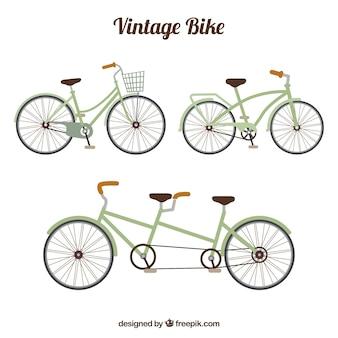 Pacote retro de bicicletas