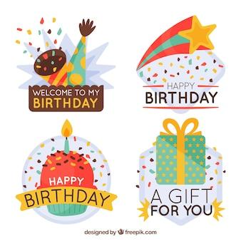 Pacote retro decorativo de aniversário para aniversários