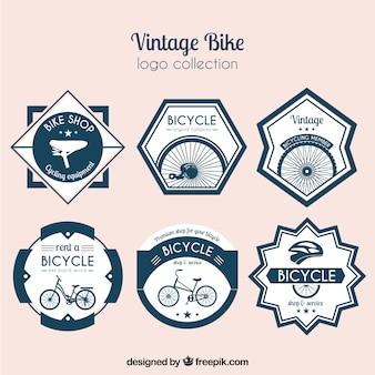 Pacote retro para adesivos de bicicleta