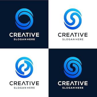 Pacote s de logotipo abstrato