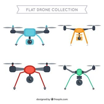 Pacote tecnológico de drones modernos