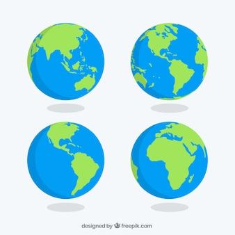 Pacote, terra, globos