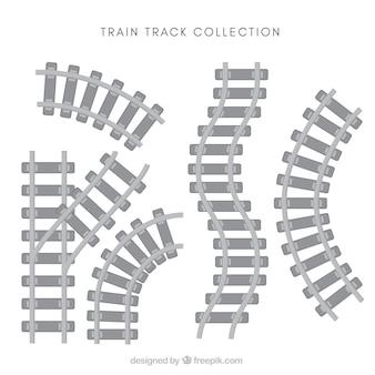Pacote, trem, trilhas, liso, desenho