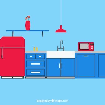 Pacote vector bela cozinha