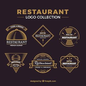 Pacote vintage de logos de restaurantes