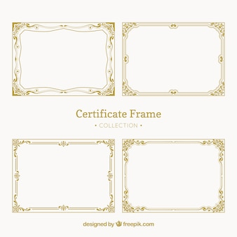 Pacote vintage de quadros de certificado