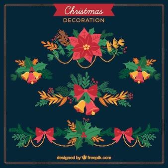 Pacote vintage para ornamentos de natal