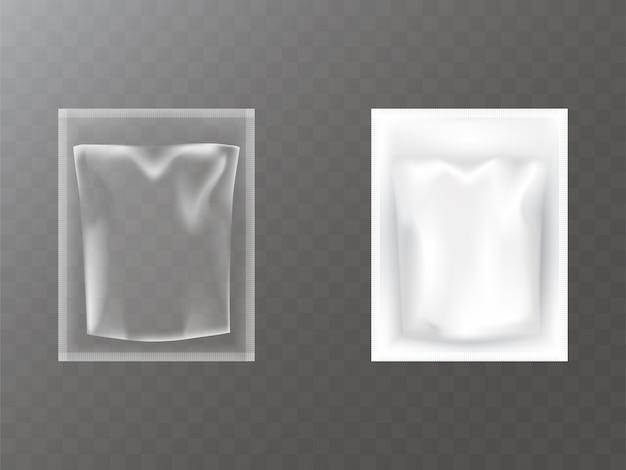 Pacotes de plástico realistas