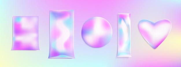 Pacotes holográficos ou pacotes de adesivos