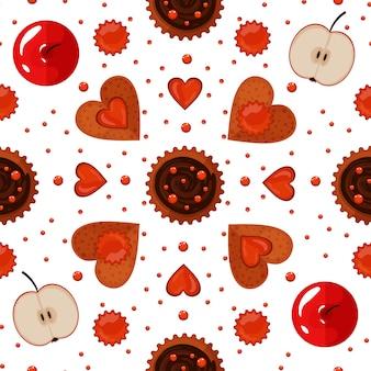 Padaria, doces, e, biscoitos, seamless, padrão