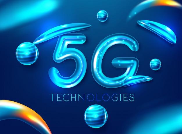 Padrão 5g da moderna tecnologia de transmissão de sinal