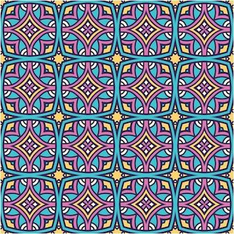 Padrão abstrato colorido com estilo étnico