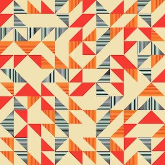 Padrão abstrato colorido de triângulo na moda sem emenda