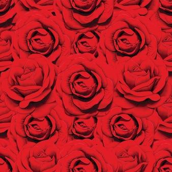 Padrão abstrato de flores vermelhas