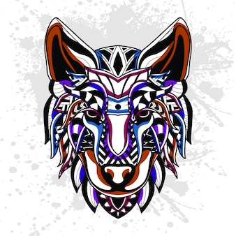 Padrão abstrato de lobo