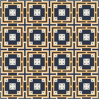 Padrão abstrato de luxo com estilo étnico