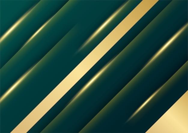 Padrão abstrato de luxo verde escuro e fundo dourado
