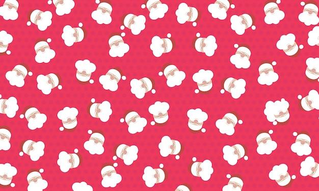Padrão abstrato de papai noel em fundo de meio-tom rosa. design para embrulho.