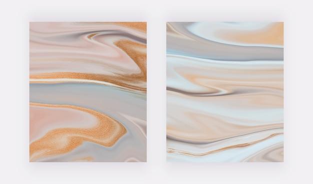 Padrão abstrato de pintura de tinta líquida neutra.