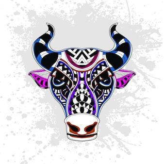 Padrão abstrato de vaca