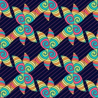 Padrão abstrato desenhado à mão. fundo colorido do hippie. textura de coloração vetorial.