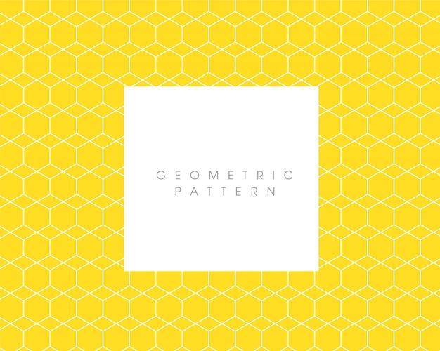 Padrão abstrato geométrico amarelo
