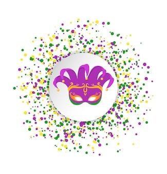 Padrão abstrato mardi gras feito de pontos coloridos