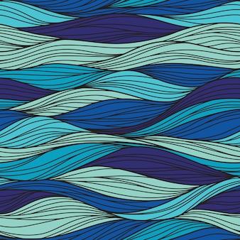 Padrão abstrato sem costura, ondas