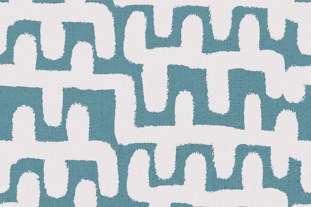 Padrão abstrato, vetor de fundo vintage têxtil em azul