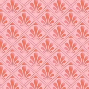 Padrão art déco em ouro rosa