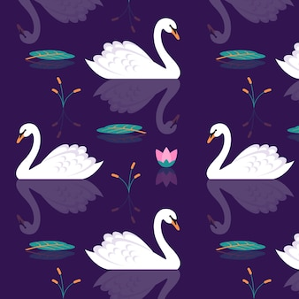 Padrão artístico cisne